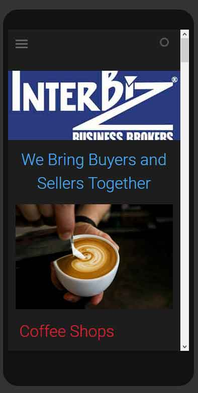 HowTheWebWasWon.biz Interbiz Business Brokers Web Site Mobile