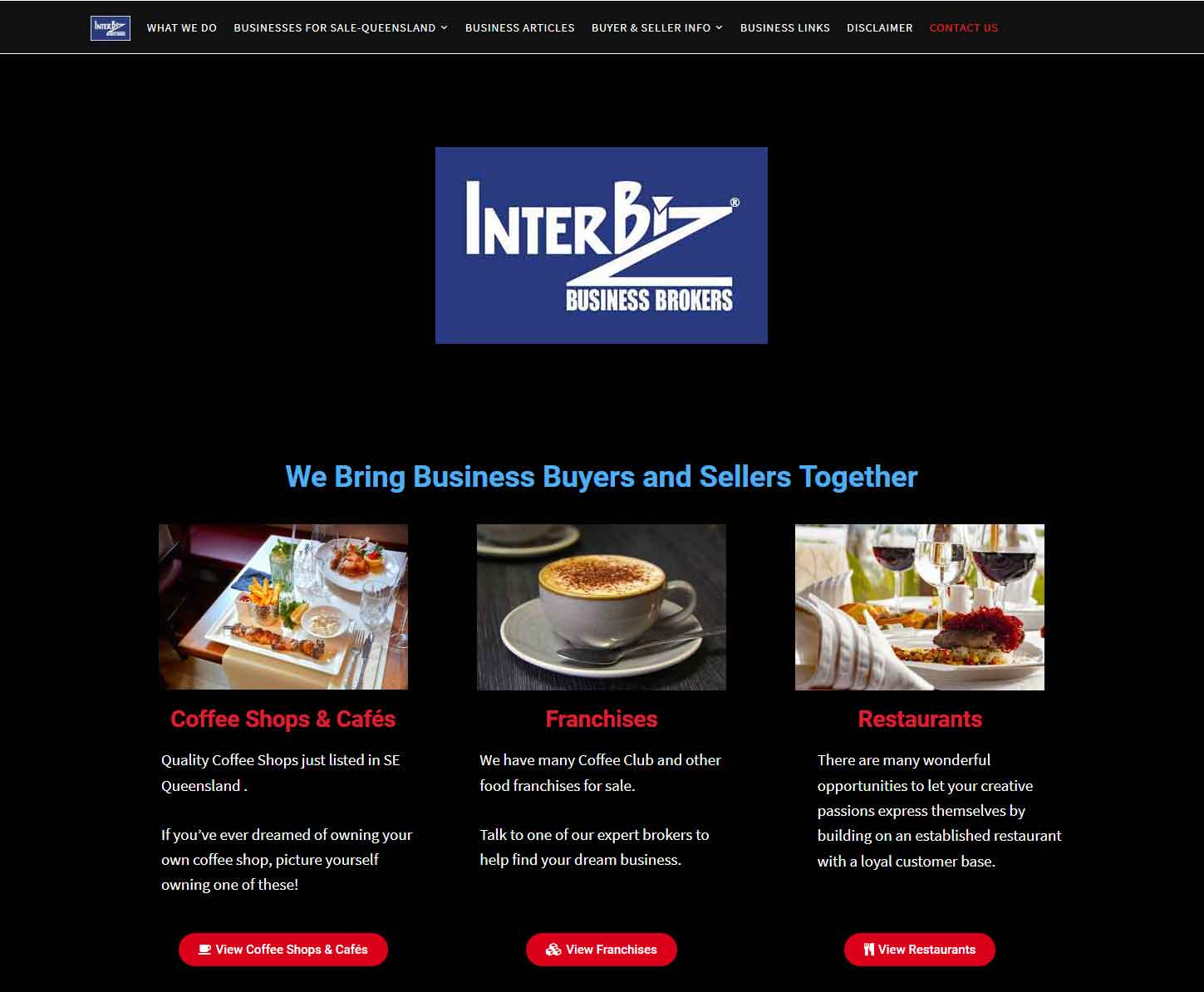 HowTheWebWasWon.biz showcasing Interbiz Business Brokers Website
