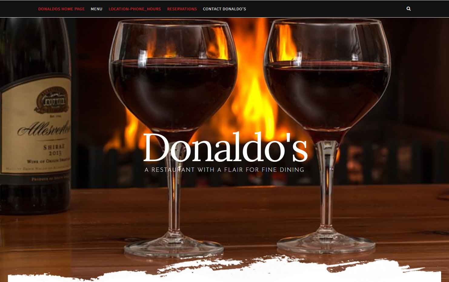 HowTheWebWasWon.biz showcasing Donaldos Restaurant Yachats Oregon Website