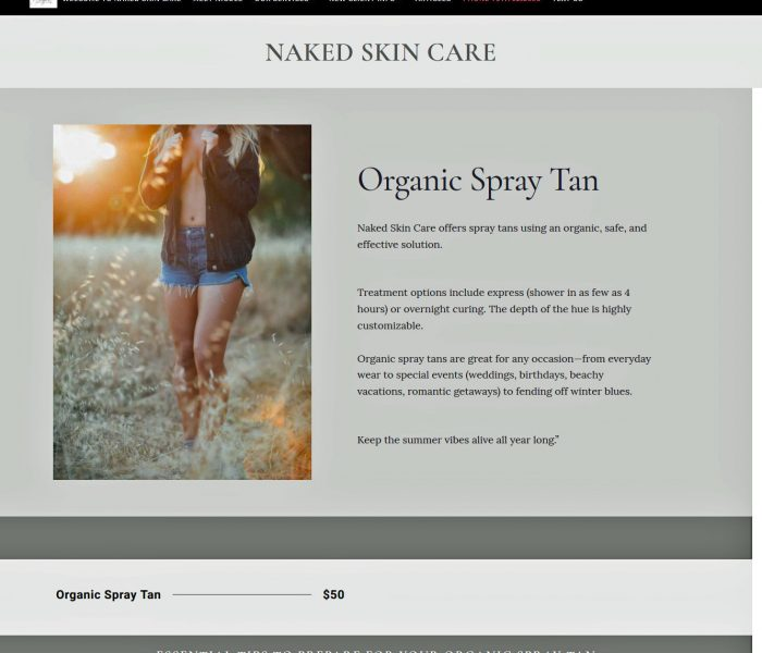 HowTheWebWasWon Naked Skin Care Organic Tan