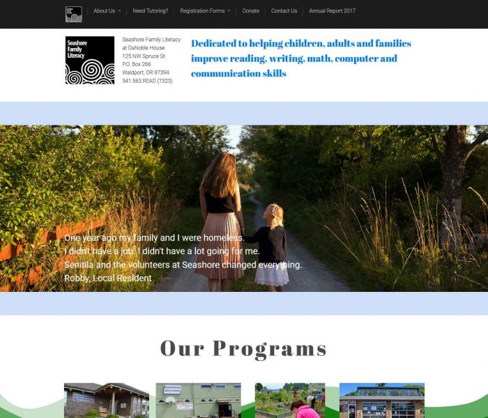 HowTheWebWasWon.biz showcasing Seashore.org Website.